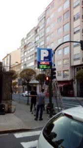 Rótulo LED para parking