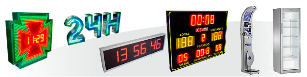 Display LED para gasolineras